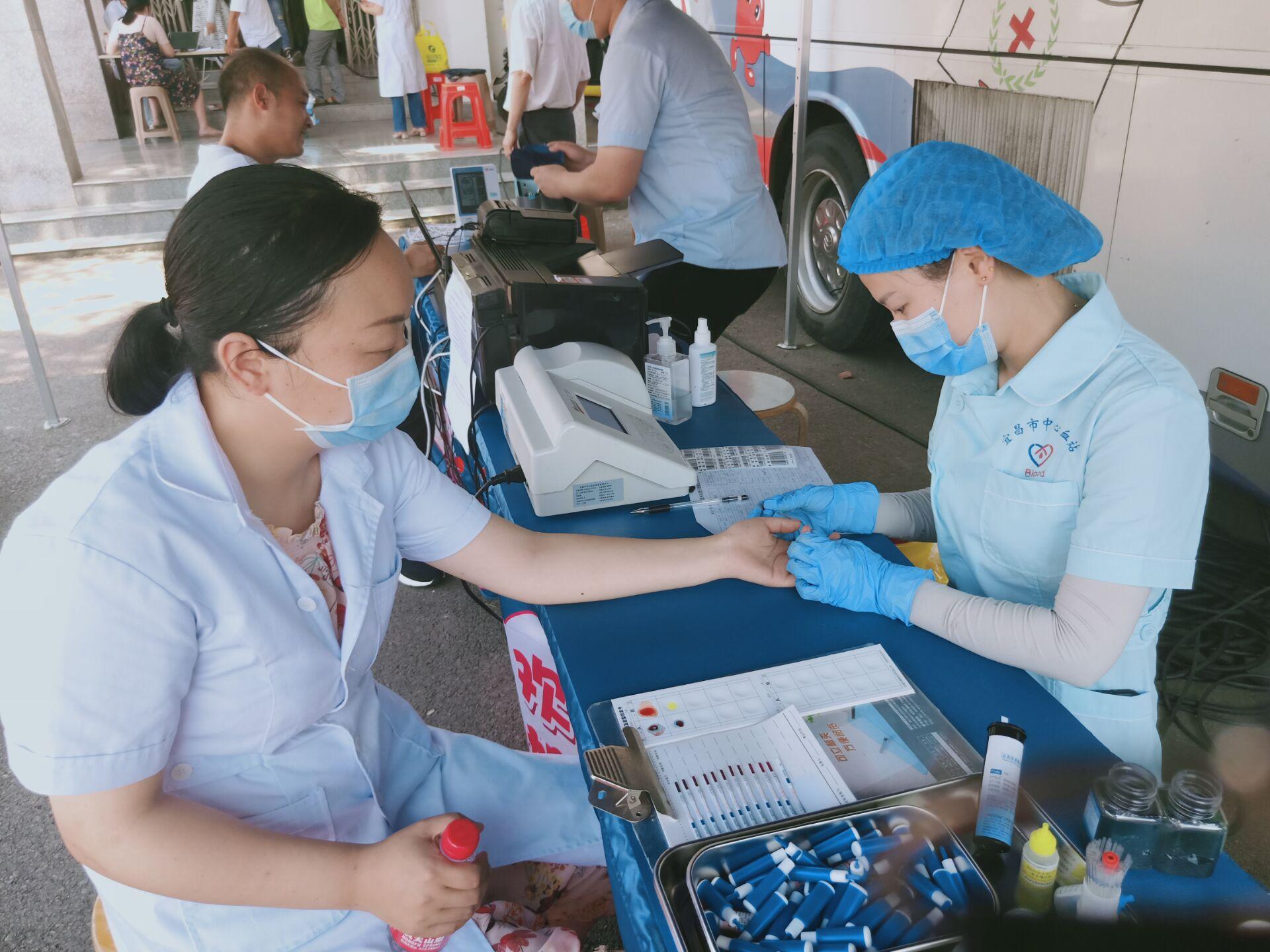 沙河社区开展义务献血活动 宜昌新闻