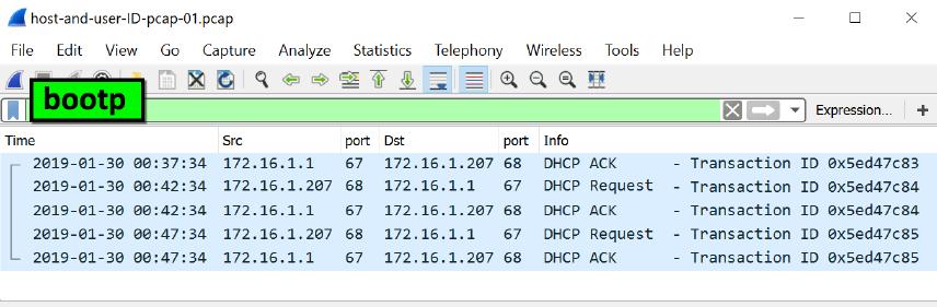 利用Wireshark技术识别受感染的主机和用户